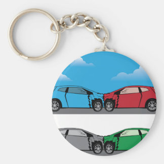 Car Crash vector Keychain
