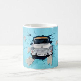 Car crosses a wall coffee mug