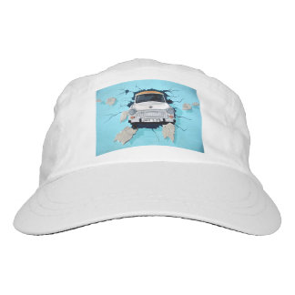 Car crosses a wall hat