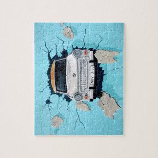 Car crosses a wall jigsaw puzzle