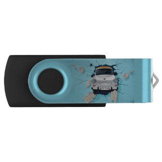 Car crosses a wall USB flash drive