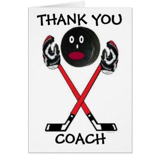 Car d'hockey de Merci Carte De Vœux
