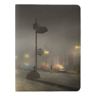 Car - Down a lonely road 1940 Extra Large Moleskine Notebook