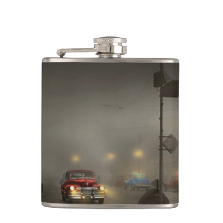 Car - Down a lonely road 1940 Flask