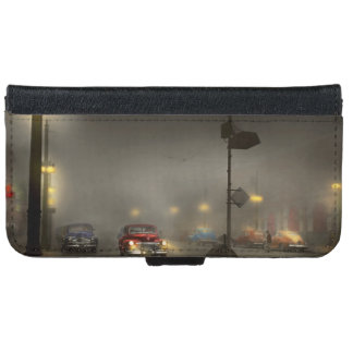 Car - Down a lonely road 1940 iPhone 6 Wallet Case