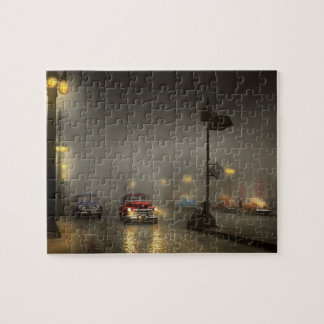 Car - Down a lonely road 1940 Jigsaw Puzzle
