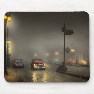 Car - Down a lonely road 1940 Mouse Pad