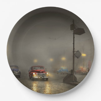 Car - Down a lonely road 1940 Paper Plate