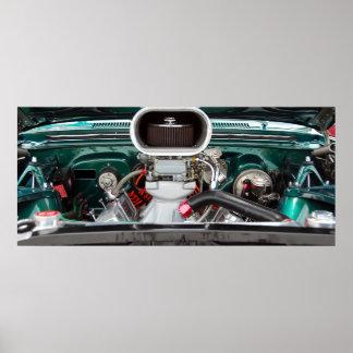 Car engine poster