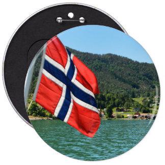 Car ferry in Norway 6 Inch Round Button