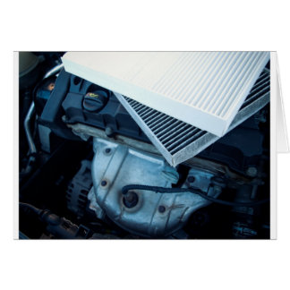 Car filters card