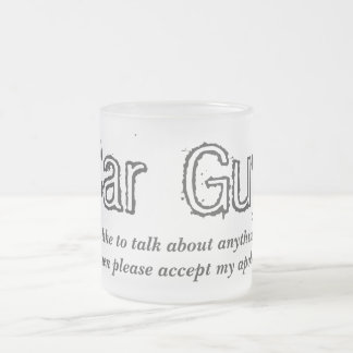 Car Guy Talk Frosted Glass Coffee Mug