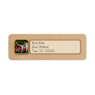 Car - Guys and cars Return Address Label