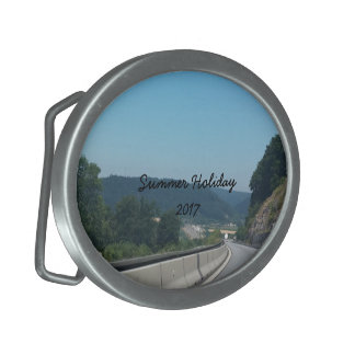 Car Holiday Mountains Europe Austria Photography Belt Buckles
