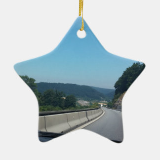 Car Holiday Mountains Europe Austria Photography Ceramic Ornament