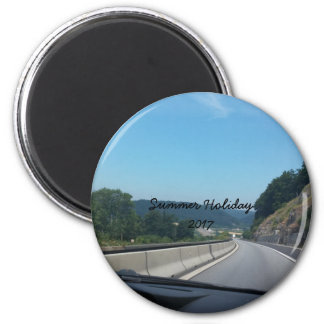 Car Holiday Mountains Europe Austria Photography Magnet