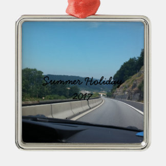 Car Holiday Mountains Europe Austria Photography Metal Ornament
