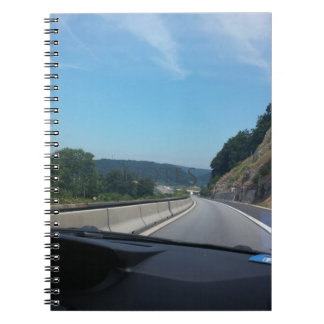 Car Holiday Mountains Europe Austria Photography Spiral Notebook