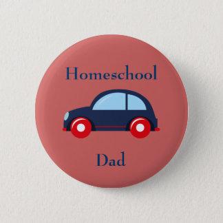 Car Homeschool Dad 2 Inch Round Button