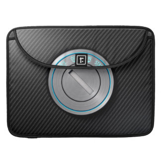 Car Ignition On Carbon Fibre Sleeves For MacBooks