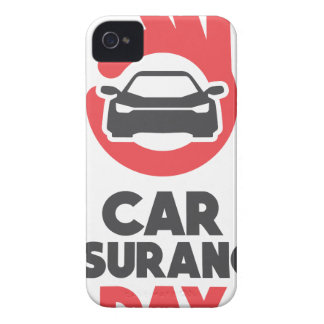 Car Insurance Day - Appreciation Day iPhone 4 Cover