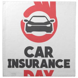 Car Insurance Day - Appreciation Day Napkin