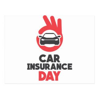 Car Insurance Day - Appreciation Day Postcard