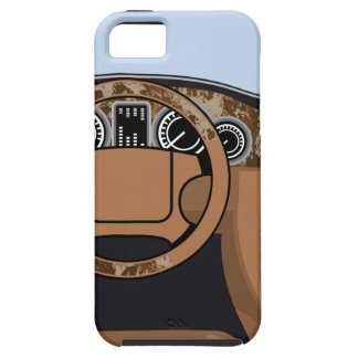 Car interior Wood Trim Vector Case For The iPhone 5