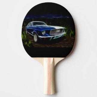 Car lighting ping pong paddle
