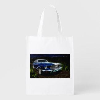 Car lighting reusable grocery bag