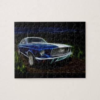 Car lightning jigsaw puzzle
