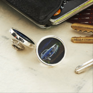 Car lightning lapel pin
