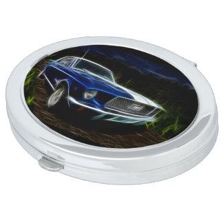 Car lightning travel mirrors
