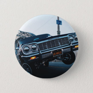 Car Low Rider Vintage Oldschool Automotive Driving 2 Inch Round Button