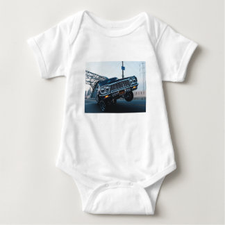 Car Low Rider Vintage Oldschool Automotive Driving Baby Bodysuit