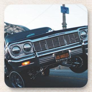 Car Low Rider Vintage Oldschool Automotive Driving Coaster