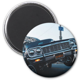 Car Low Rider Vintage Oldschool Automotive Driving Magnet