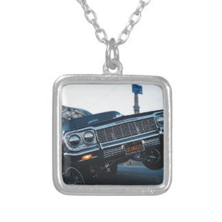 Car Low Rider Vintage Oldschool Automotive Driving Silver Plated Necklace