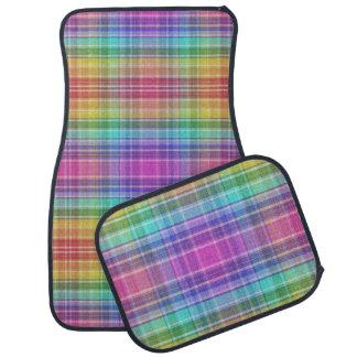 Car Mats - Rainbow Madras Floor Mat