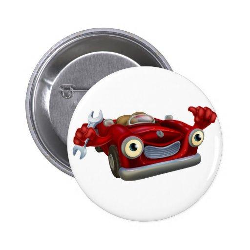 Car mechanic pinback buttons
