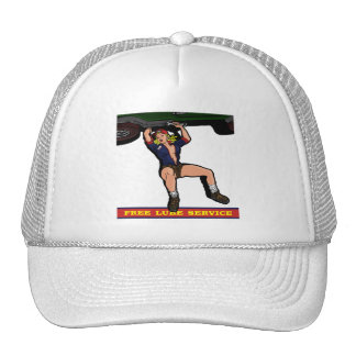 CAR MECHANIC GIRL TRUCKER HAT