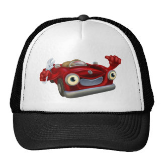 Car mechanic with wrench hat