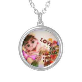 Car Mirror Mojo ``Love Ya Dad´´ God bless Ya Silver Plated Necklace