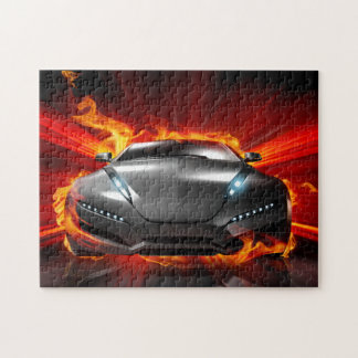 Car on Fire 11x14 Jigsaw Puzzle