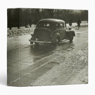 Car on the Road Vinyl Binder