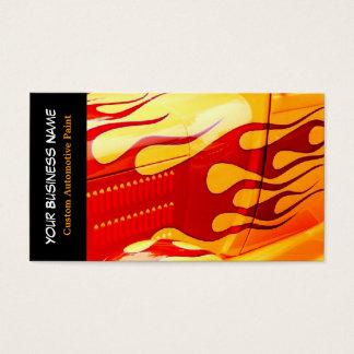 Car Painting Flames Paint Job on Car Business Card