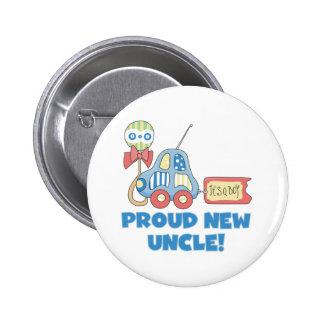 Car Proud New Uncle It's a Boy Button