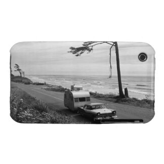 Car Pulling Trailer iPhone 3 Case