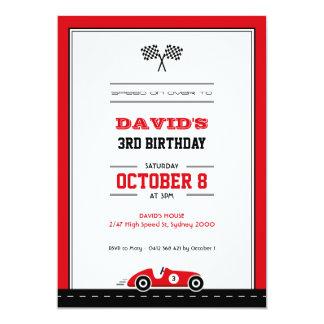 Car Race Birthday Invitation