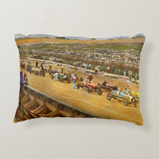 Car Race - Life in the fast lane 1925 Accent Pillow